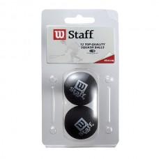 Intersport Staff Squash Ball 2 Pack red = medium, yellow = slow
